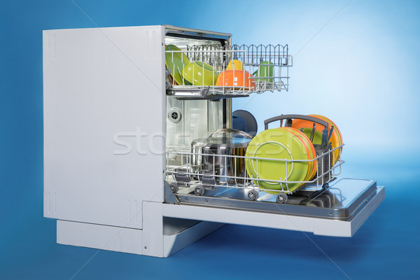 Dishwasher Full Of Utensils Stock photo © AndreyPopov