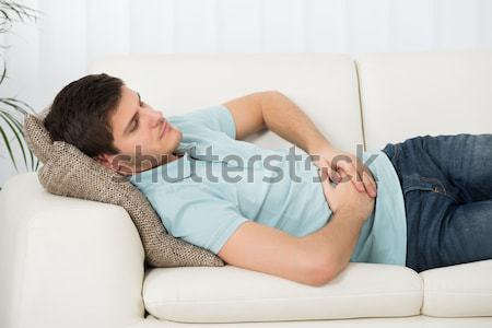 Woman Sleeping On Sofa Stock photo © AndreyPopov