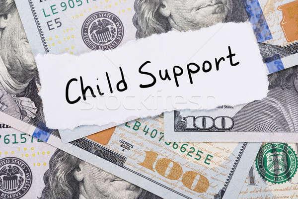 Stok fotoğraf: çocuk · destek · dikkat · üst · dolar