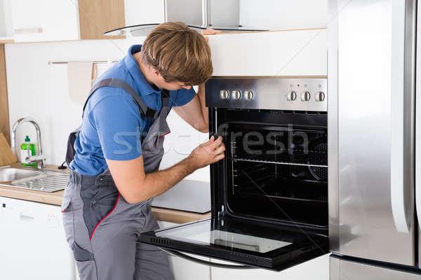 Schroevendraaier oven keuken huis Stockfoto © AndreyPopov