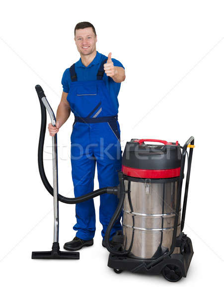 Portrait Of Male Janitor With Vacuum Cleaner Stock photo © AndreyPopov
