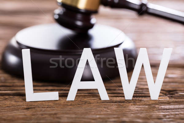 Close-up Of A Law Text Stock photo © AndreyPopov
