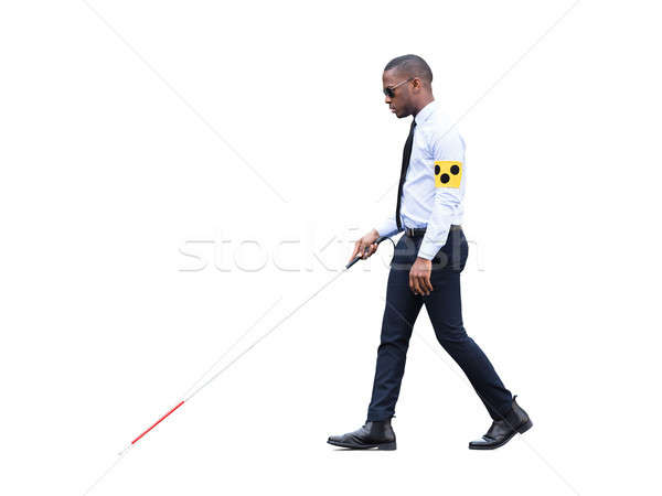 African Blind Man Walking With Stick Stock photo © AndreyPopov