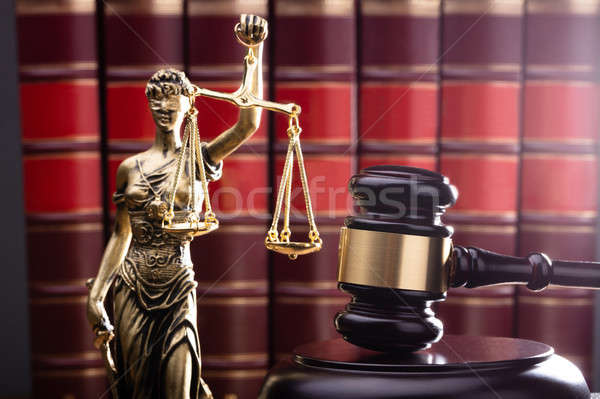 Brown Gavel With Statue Of Justice Stock photo © AndreyPopov