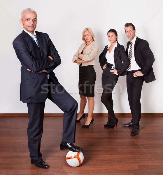Strong competitive business team Stock photo © AndreyPopov