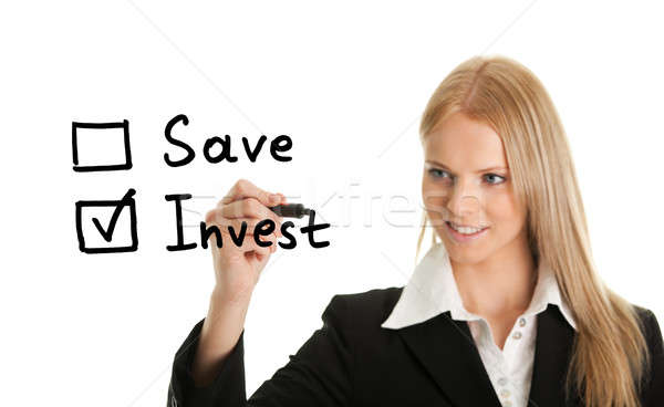 Invest instead of saving concept Stock photo © AndreyPopov