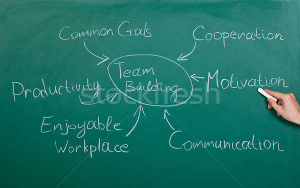Team Building Chart Stock photo © AndreyPopov