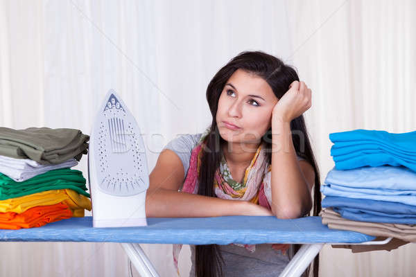 Fed up housewife daydreaming Stock photo © AndreyPopov