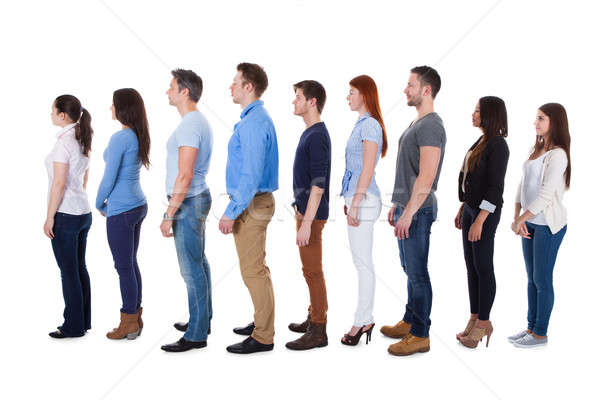 Diverse group of people standing in row Stock photo © AndreyPopov