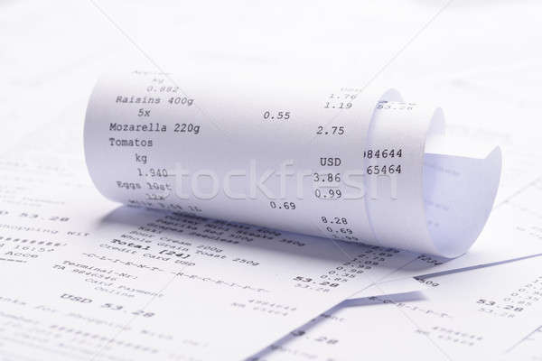 Rolled-up Receipt With Costs Stock photo © AndreyPopov