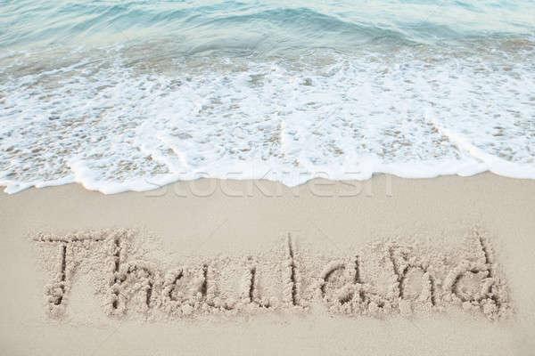 Таиланд написанный песок морем пляж лет Сток-фото © AndreyPopov