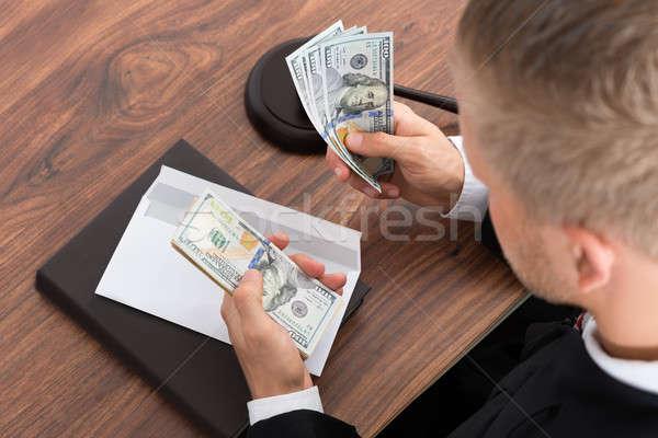 судья деньги столе книга Сток-фото © AndreyPopov