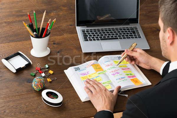 Işadamı yazı ofis zamanlamak büro Stok fotoğraf © AndreyPopov