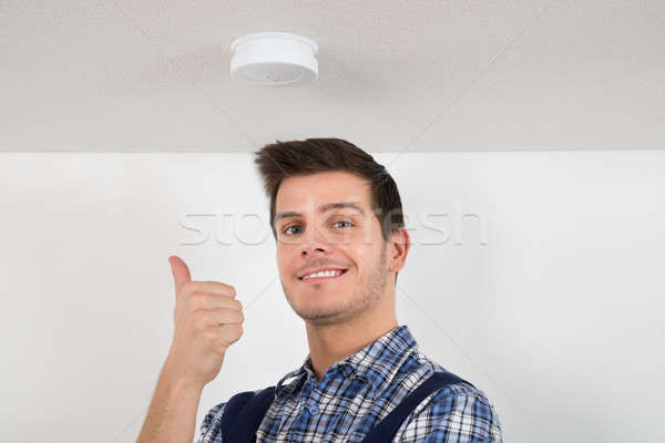 Portrait Of Happy Male Electrician Stock photo © AndreyPopov