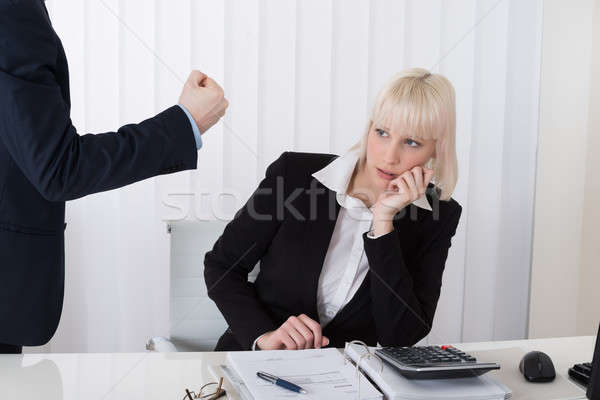 Boss Blaming Female Employee For Bad Results Stock photo © AndreyPopov