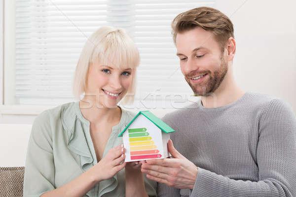 Couple efficacité énergétique taux maison modèle Photo stock © AndreyPopov