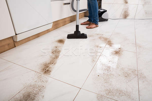 Person Vacuuming The Dust Of The Floor Stock photo © AndreyPopov