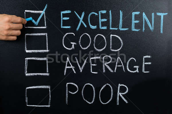 Performance Evaluation Showing On Blackboard Stock photo © AndreyPopov