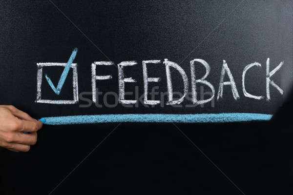 Feedback Concept Written On Blackboard Stock photo © AndreyPopov