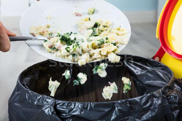Osoby gotowany makaronu kosza Zdjęcia stock © AndreyPopov