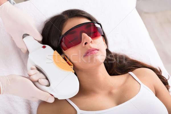 Laser Epilation Treatment On Woman's Chin Stock photo © AndreyPopov