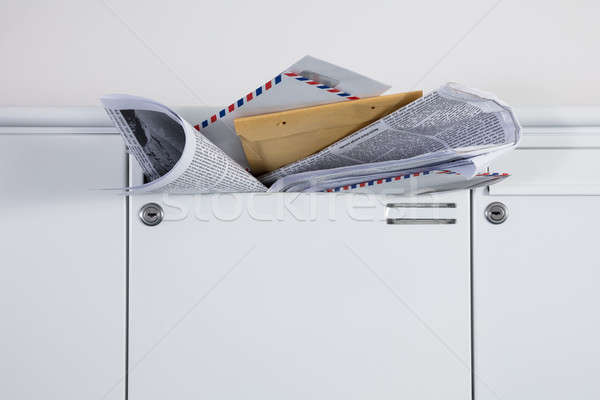 Mailbox Overloaded With Junk Mails Stock photo © AndreyPopov