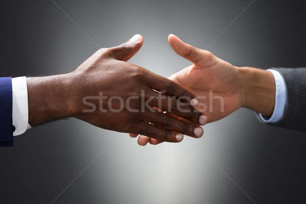 Close-up Of Two People Shaking Hands Stock photo © AndreyPopov