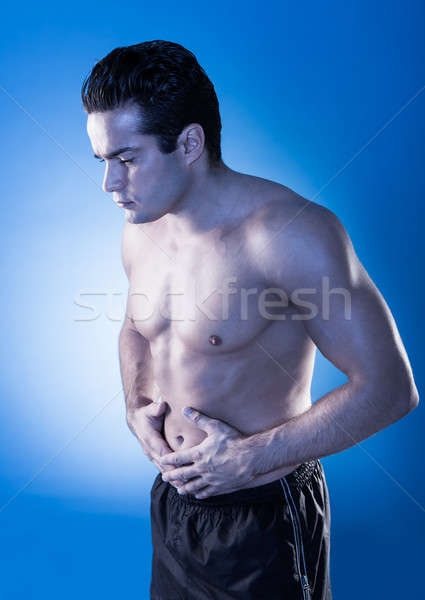 Man Having Stomachache Stock photo © AndreyPopov