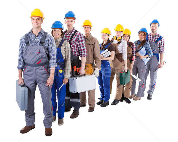 Large group of construction workers queuing up Stock photo © AndreyPopov