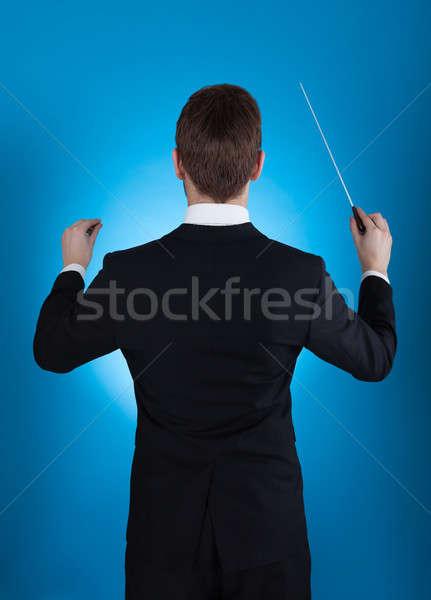 Orkiestrę widok z tyłu działalności człowiek mężczyzn Zdjęcia stock © AndreyPopov