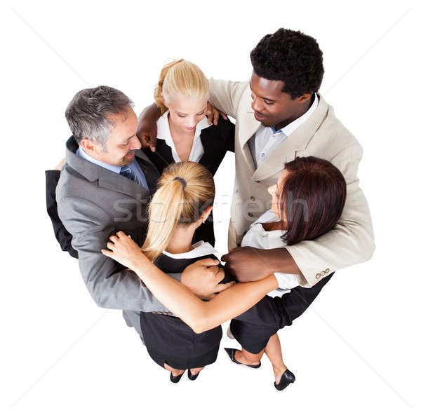 Multiethnic Business People Forming Huddle Stock photo © AndreyPopov