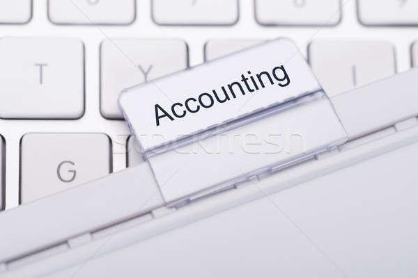 Stock fotó: Könyvelés · csatolva · billentyűzet · közelkép · számítógép · pénzügyi