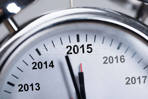 Happy New Year 2015 In Alarmclock Stock photo © AndreyPopov