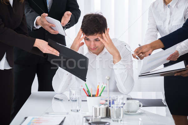 Businessman Stressed Out At Work Stock photo © AndreyPopov