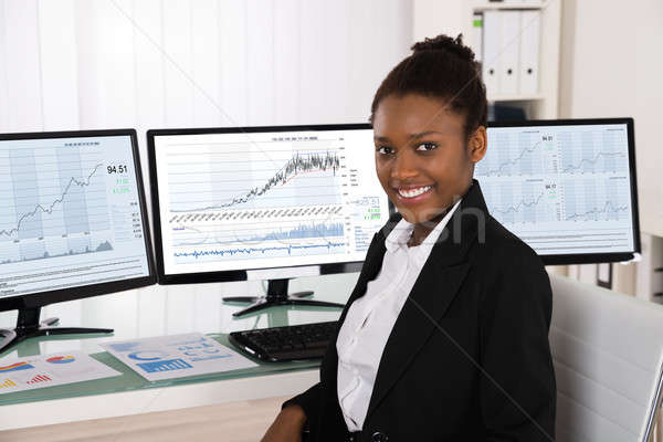 African Stock Broker Stock photo © AndreyPopov