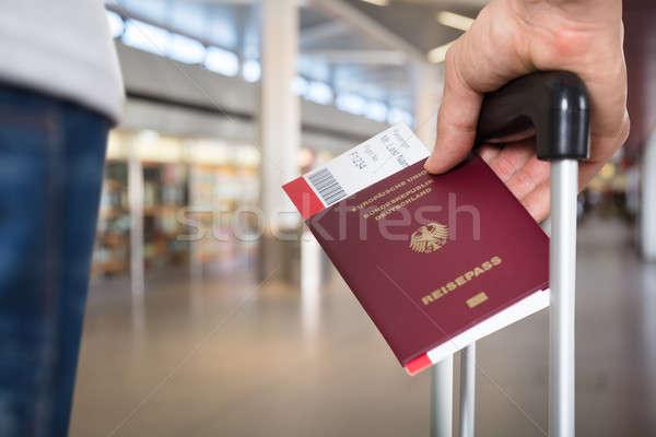 Persona equipaje pasaporte embarque Foto stock © AndreyPopov