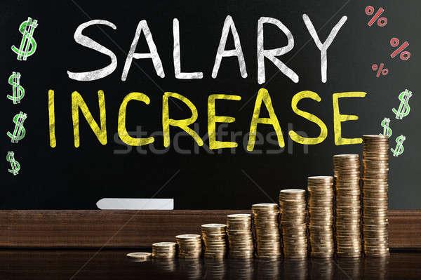 Salary Increase Words On Blackboard Stock photo © AndreyPopov