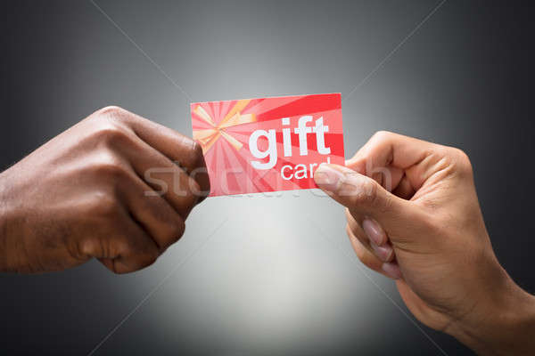 Two Hands Holding Gift Card Stock photo © AndreyPopov