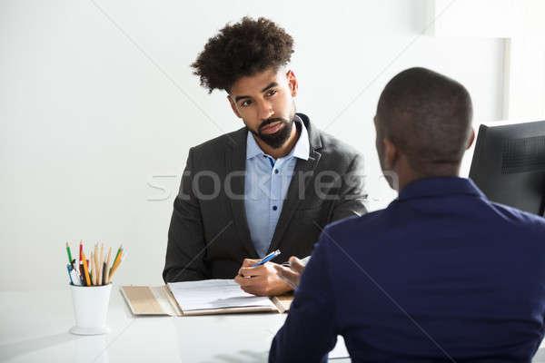 Zakenman mannelijke kandidaat jonge kantoor business Stockfoto © AndreyPopov