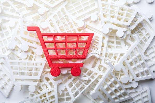 赤 ショッピングカート 表示 テクスチャ デザイン ストックフォト © AndreyPopov
