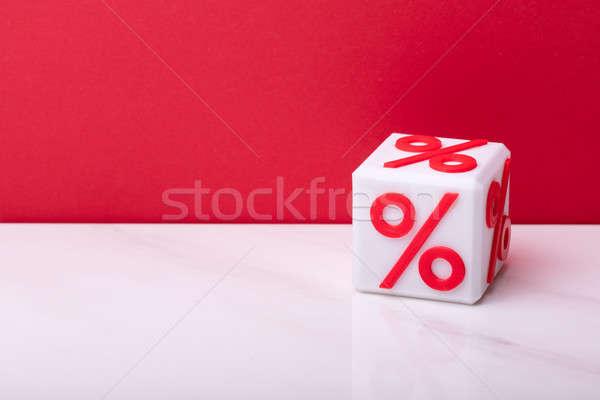 Rood percentage symbool witte bureau geld Stockfoto © AndreyPopov
