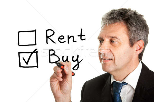 Buy not rent concept Stock photo © AndreyPopov