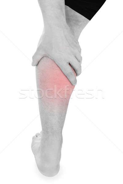 человека ногу более белый спорт здоровья Сток-фото © AndreyPopov