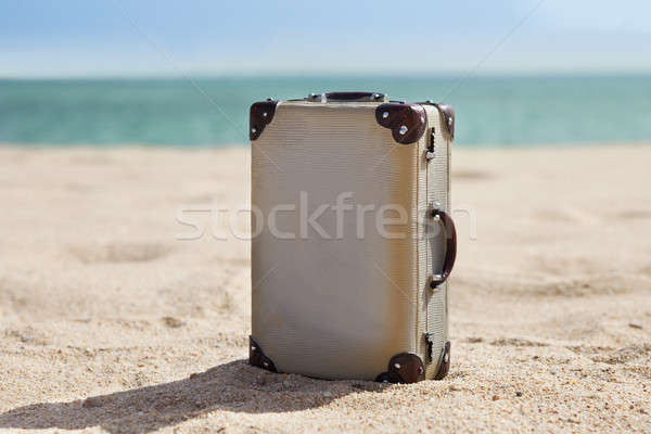 Old Suitcase On Beach Stock photo © AndreyPopov