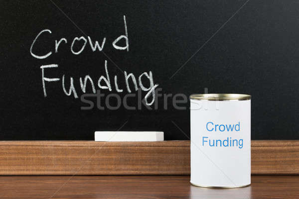 Crowd Funding Writing On Can Stock photo © AndreyPopov