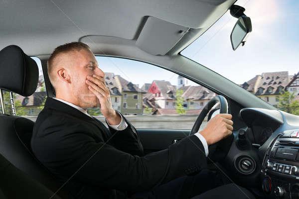 бизнесмен вождения автомобилей портрет молодые Сток-фото © AndreyPopov