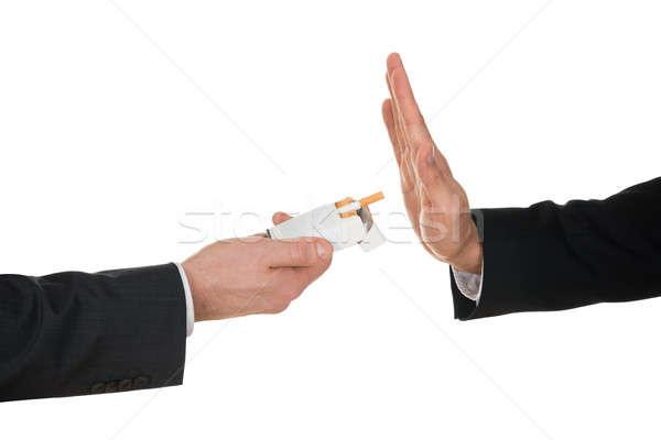 Businessman Avoiding Cigarette Stock photo © AndreyPopov