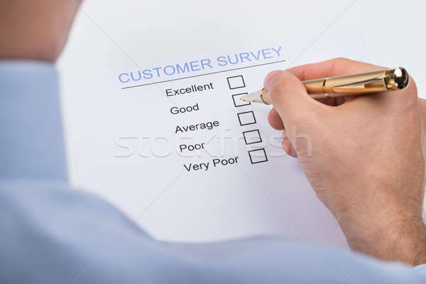 Businessperson Marking On Customer Survey Form Stock photo © AndreyPopov