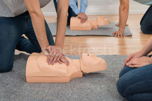 Students Practicing Cpr Chest Compression Stock photo © AndreyPopov