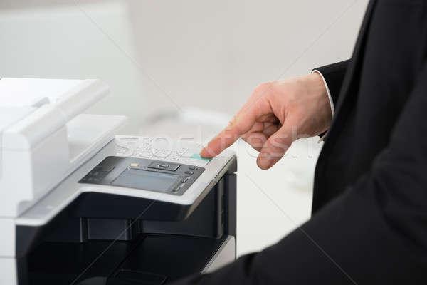 Biznesmen drukarki biuro człowiek pracy wykonawczej Zdjęcia stock © AndreyPopov